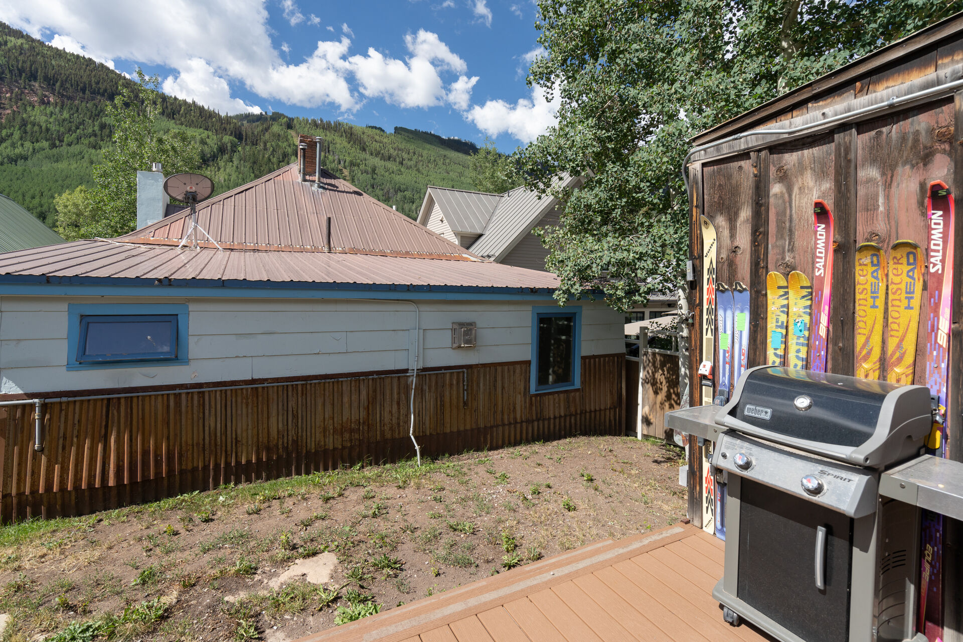A view of the backyard of this holiday home in Telluride.