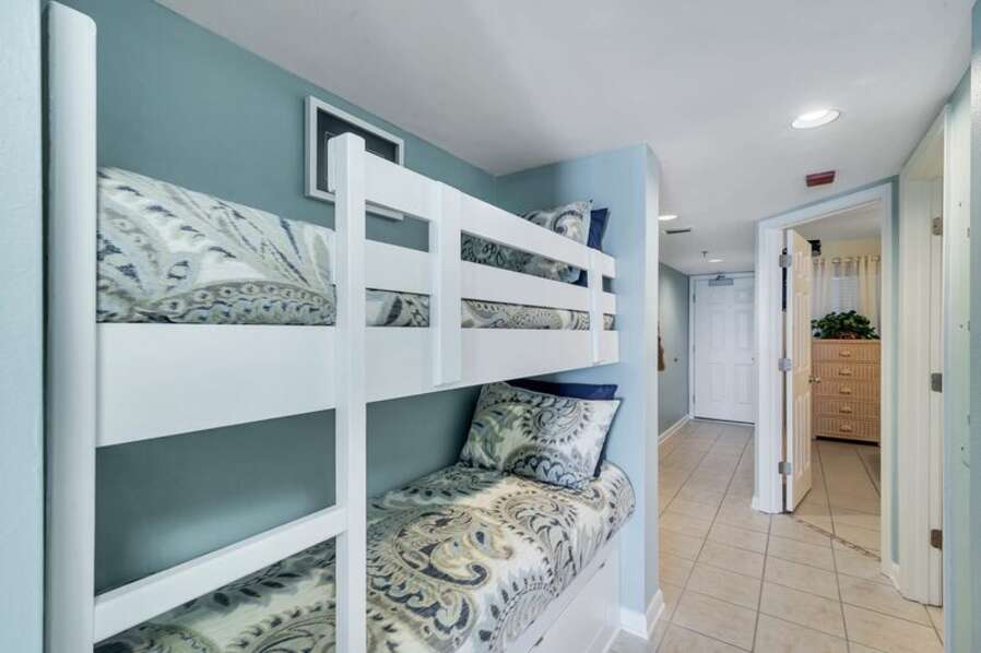 Bunk Twin Beds Right Outside Master Bedroom
