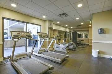 Fitness area located on the 4th floor