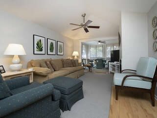 Open floor plan with ample seating