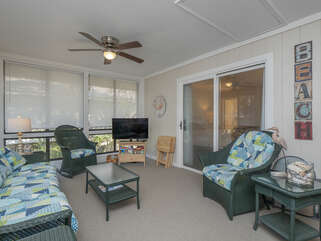 Television in sun room