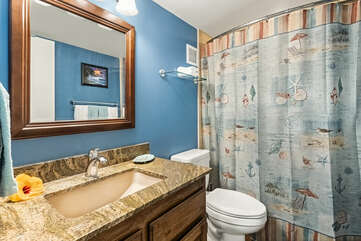 Bathroom 2 with tub/shower combo