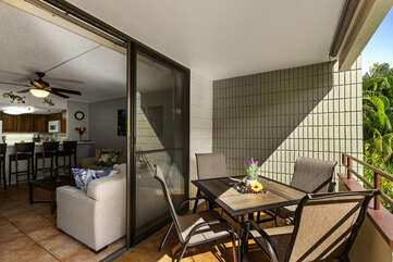 Easy access from living area to lanai
