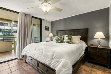 Master bedroom with lanai access