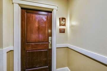 Door from the hallway