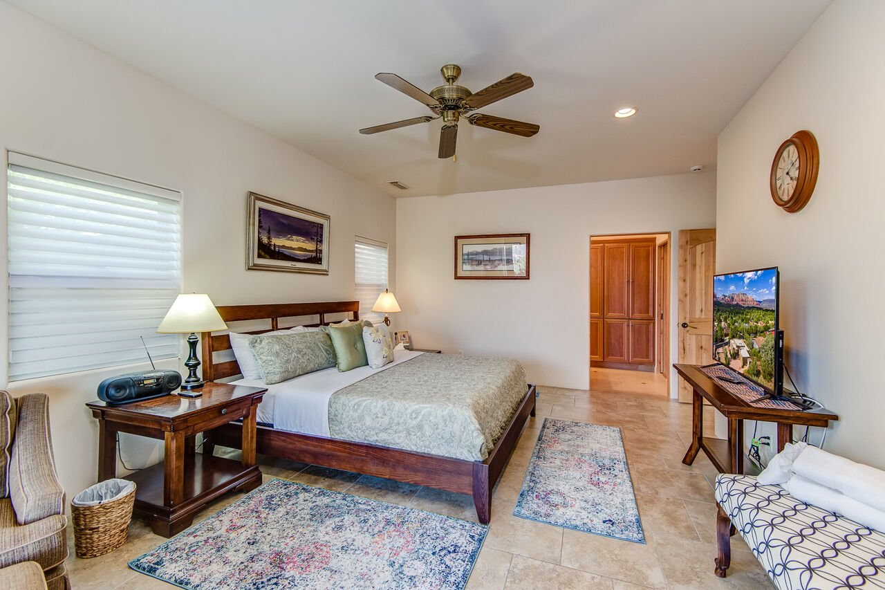 Master Bedroom with a King Bed and a 53