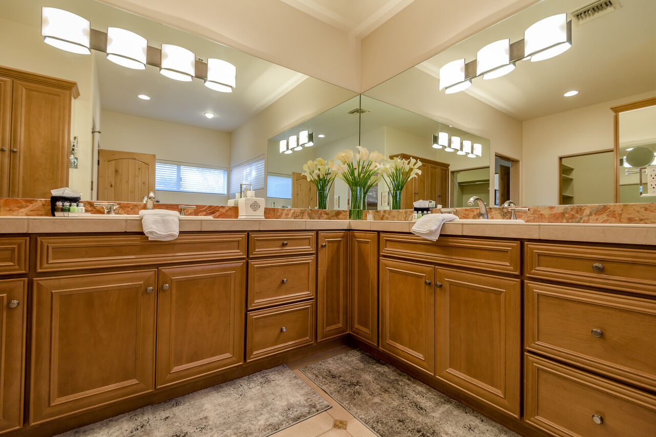 Private Master Bath with Dual Vanities