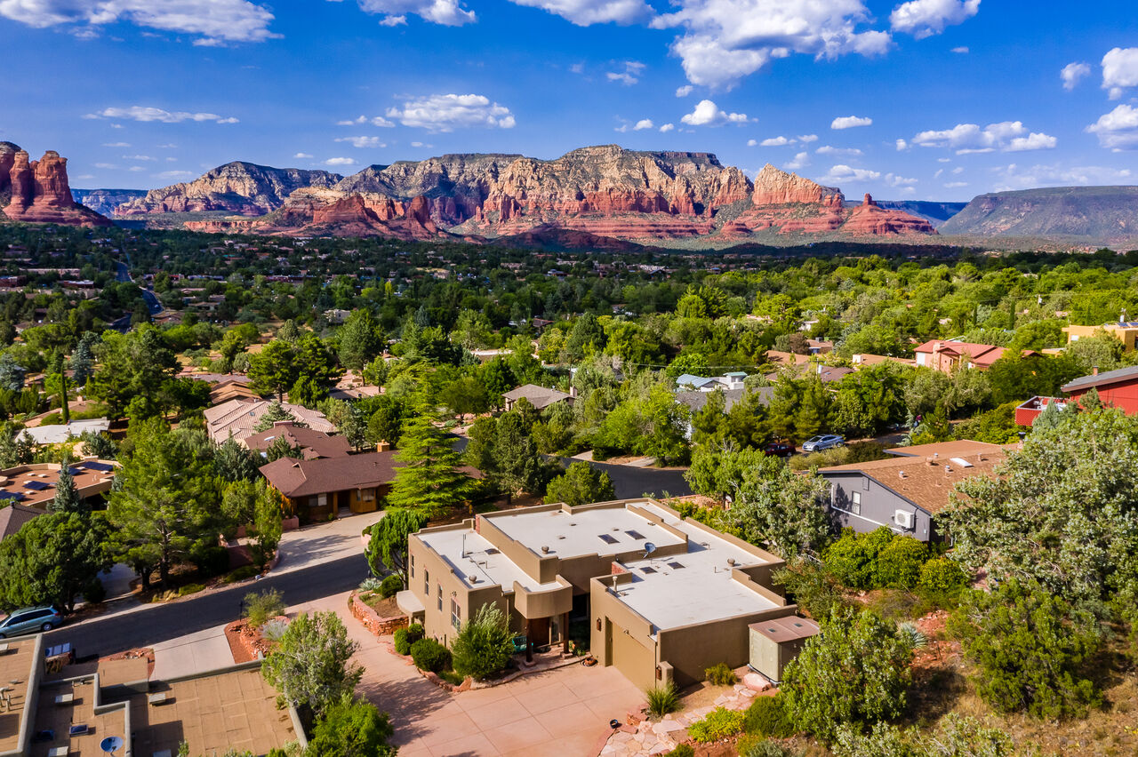 Backs up to Natural Forest Land and Surrounded by Panoramic Red Rock Views