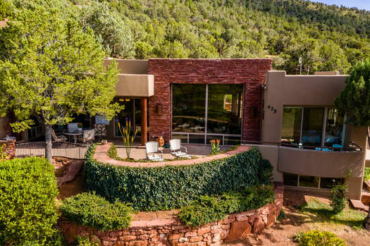 Spacious Back Patio to Enjoy the Fresh Air and Red Rock Views
