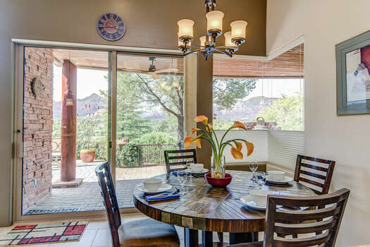Dining Area with Seating for Four and Patio Access