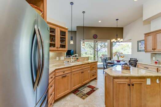 Plenty of Space for Meal Prep and Entertaining