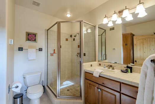 Master Bath 3 with a Tile and Glass Shower