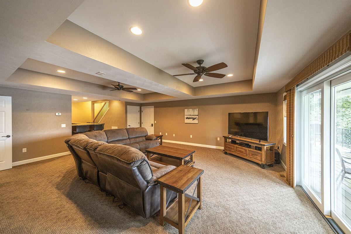 Wonderful Lower Level TV Room