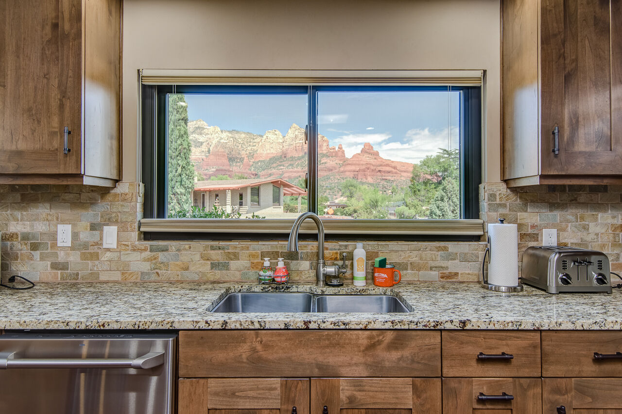 Fully Equipped Kitchen with Stunning Views from Here Too!