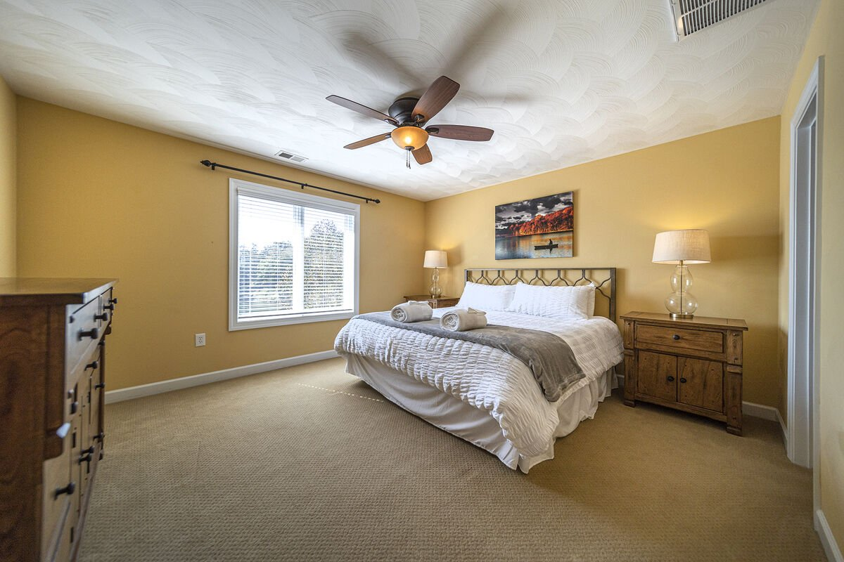 Another Upper Bedroom Overlooking the Lake