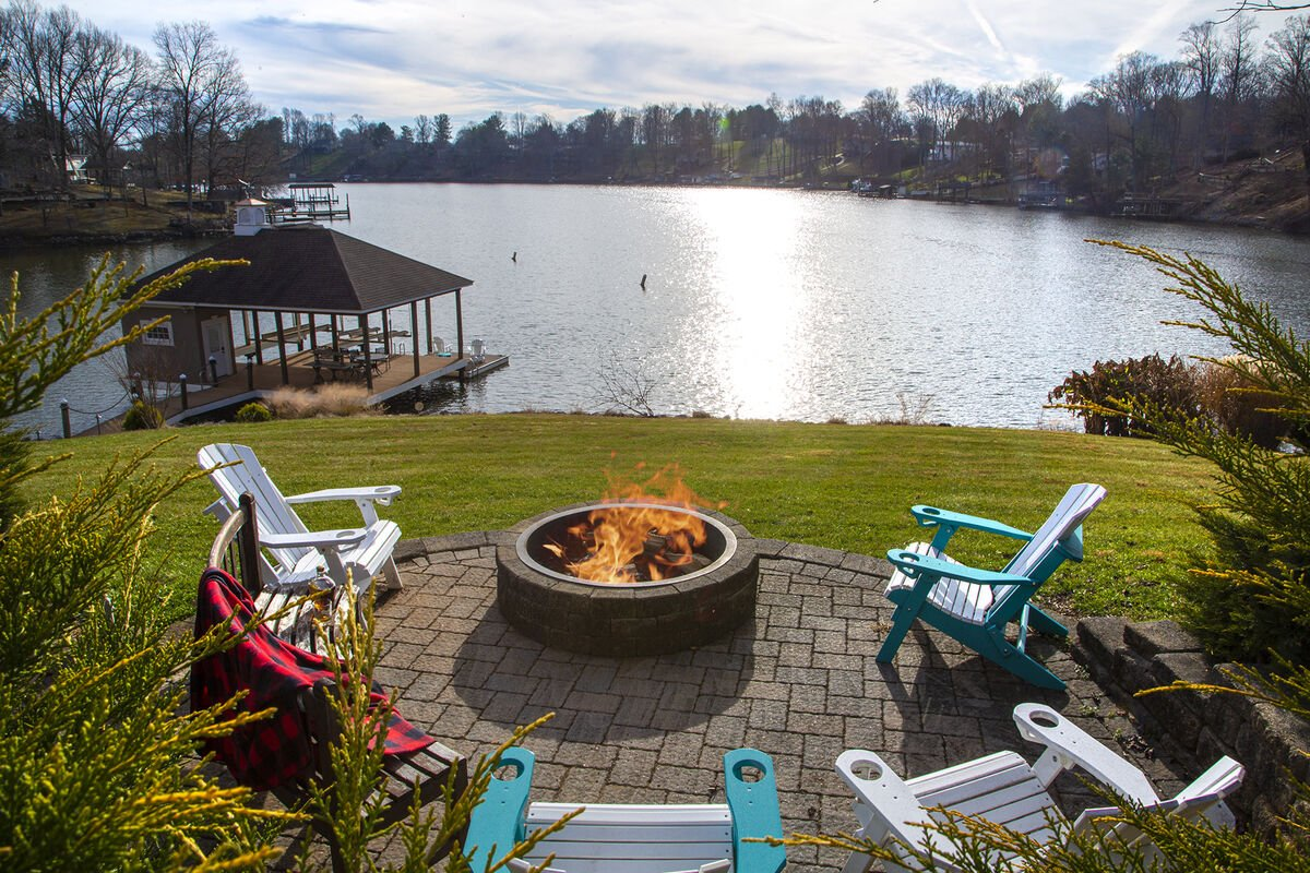 Fire Pit By the Lake