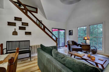 Doors to the Porch and Stairs to upstairs Loft