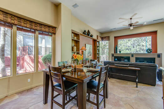 Dining Area and Adjacent Family Room