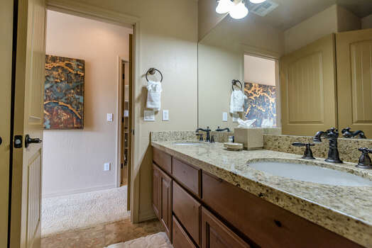 Master Bath with Dual Granite Counter Sinks