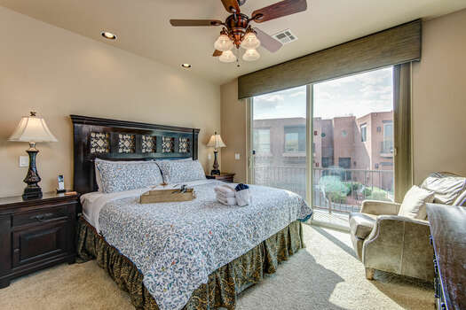 2nd Level Master Bedroom with a King Bed