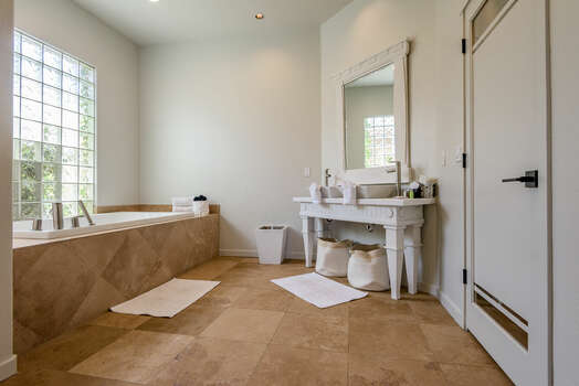 Grand Master Bath with Dual Sinks