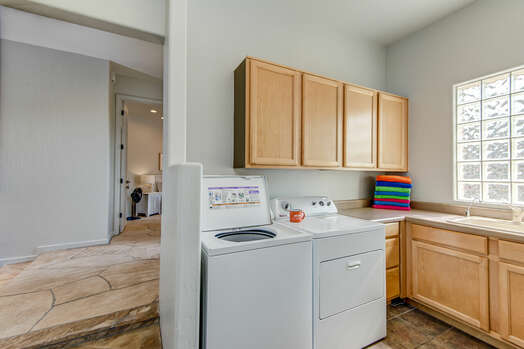 Laundry Room with a Full-size Washer and Dryer