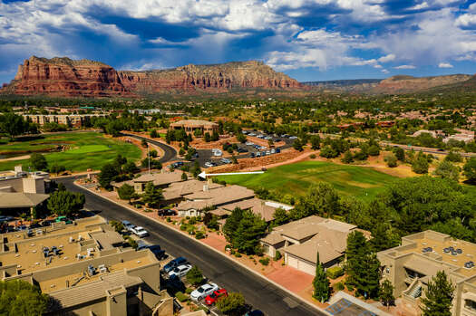 Situated on the Golf Course with Stunning Red Rock Views