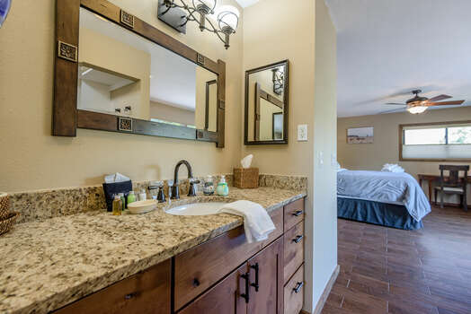 Grand Master Bath with a Granite Counter Sink