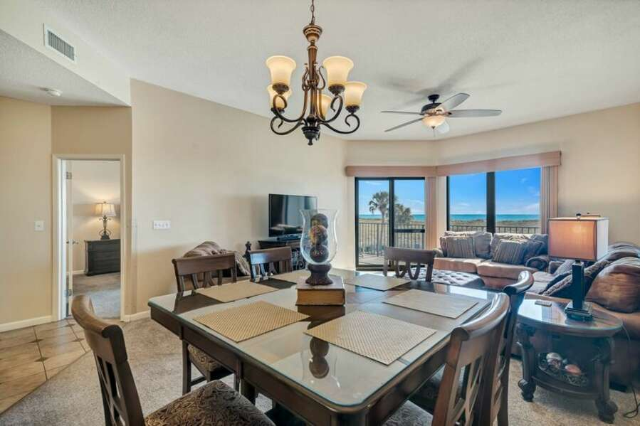 Dining Area offers Great Views of the Gulf