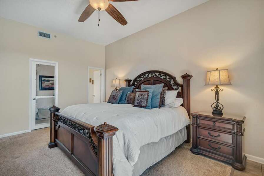 Master Bedroom with a King Size Bed and Private EnSuite