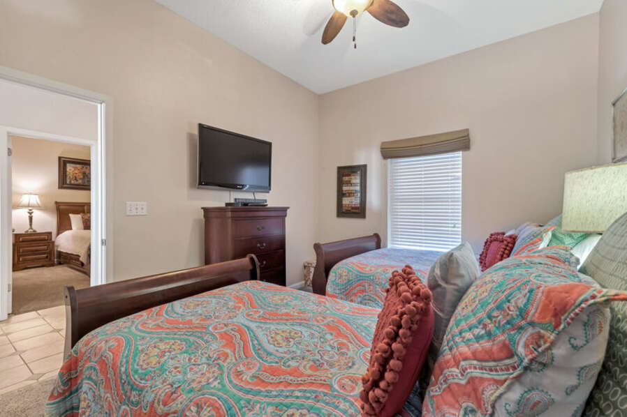 Guest Bedroom with a Full Size Bed and a Twin Bed