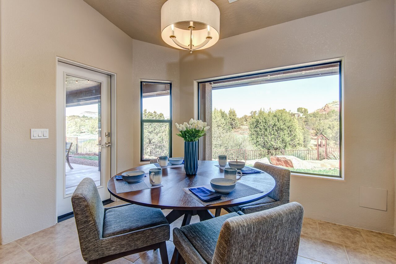 Breakfast Nook with Seating for Four and Access to the Covered Patio