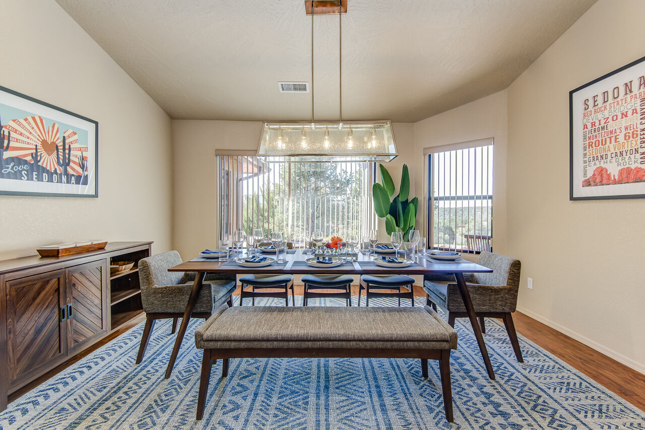Separate Dining Room with Seating for Eight