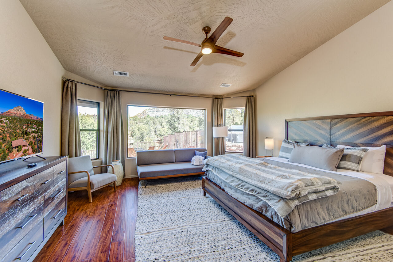 Master Bedroom with a King Bed, a Twin Day Bed, 50