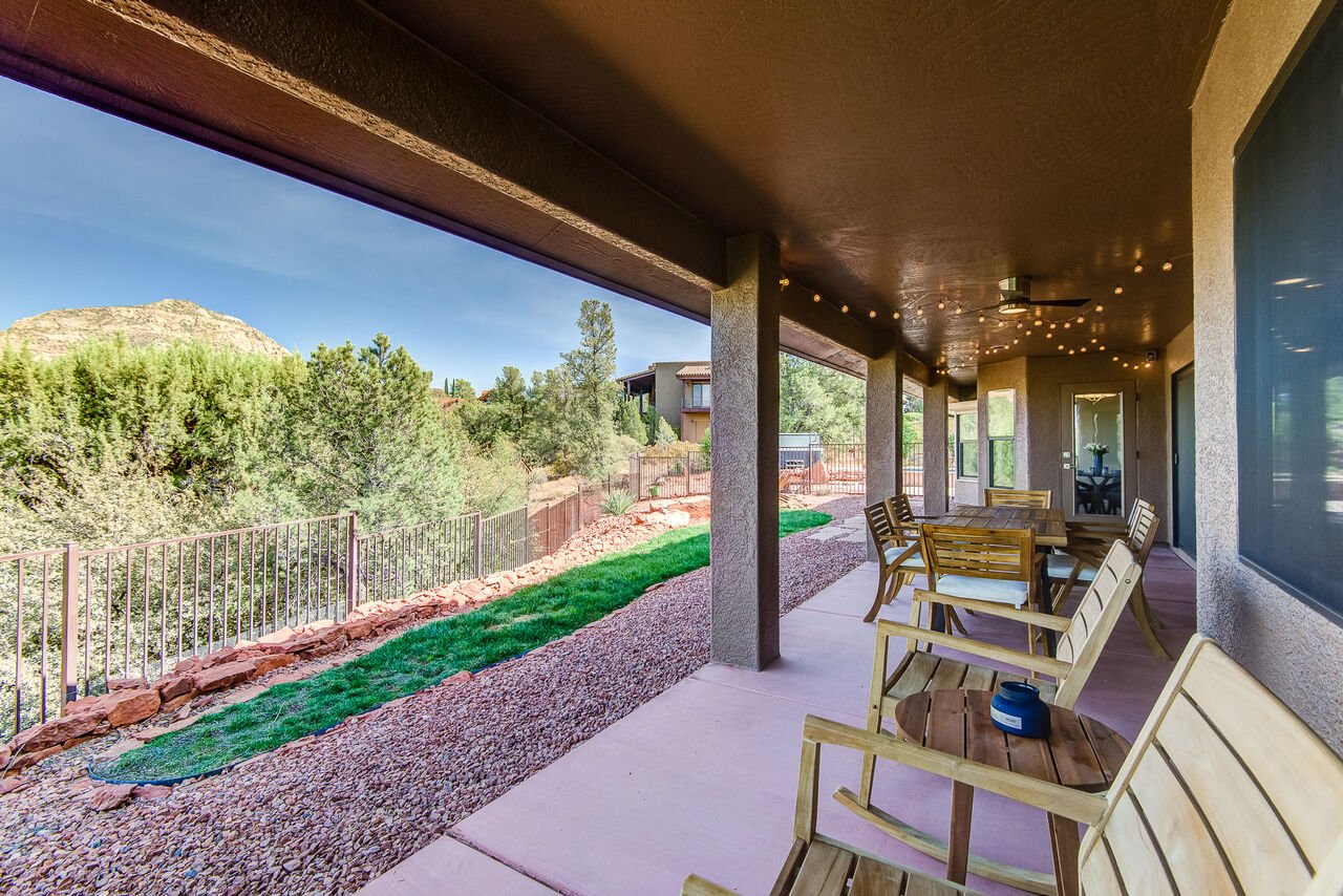 Covered Patio with Seating