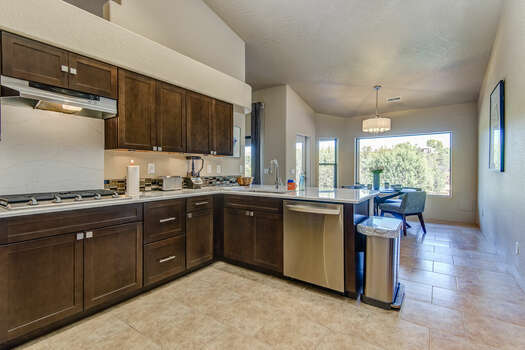 Completely Remodeled Kitchen Offering Double Convection Ovens