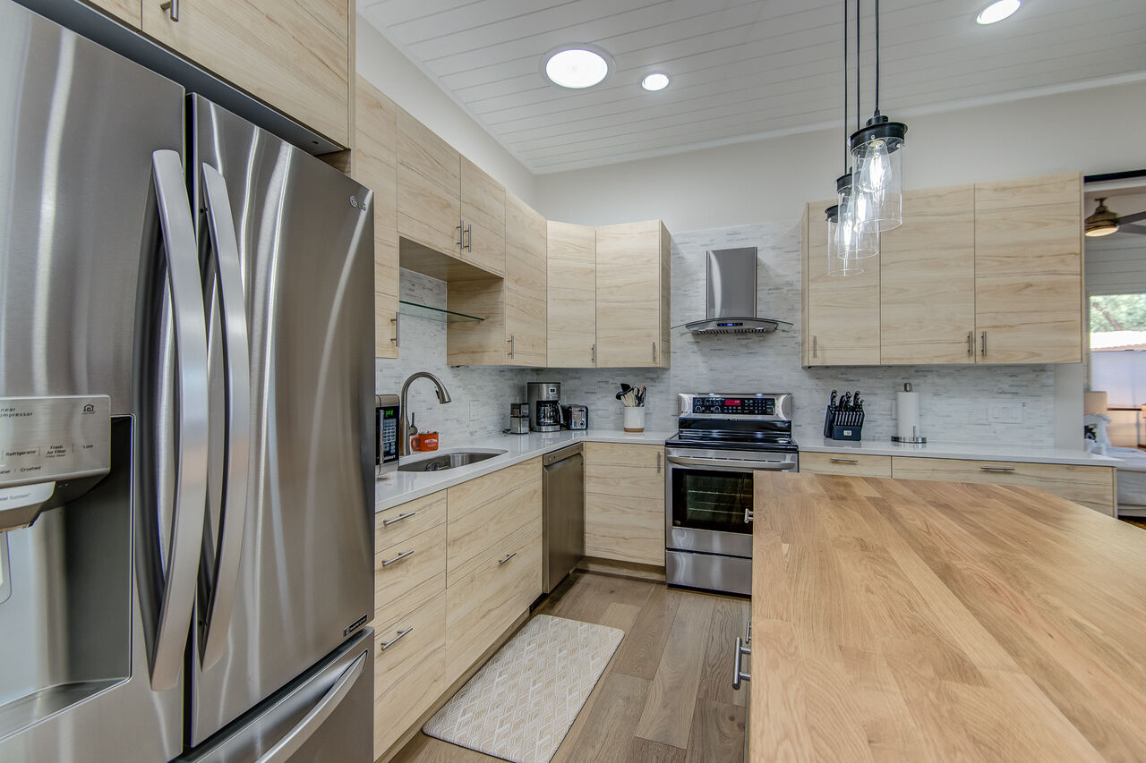 Stainless Steel Appliances and Plenty of Counter Space