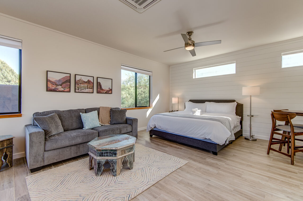 Casita with a King Bed and a Queen Sofa Sleeper