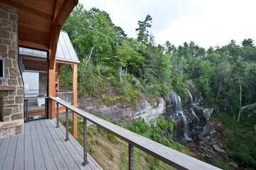 Spectacular view of the waterfall