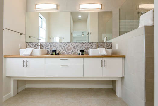 Luxury Master Bath 1 with Dual Stone Counter Sinks