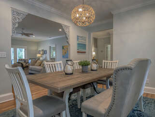 Dining room is adjacent to the family room with this open floor plan.