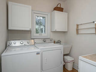 Full size washer/dryer for your convenience.
