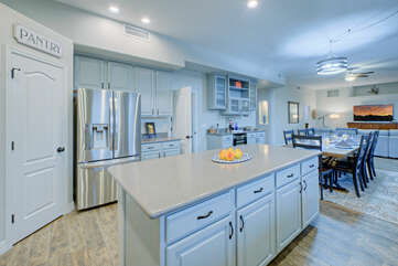 Gourmet cooking is possible in our stylish and completely stocked kitchen.