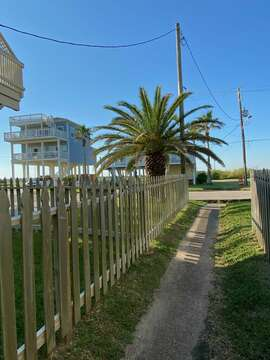 Public Walkway to the beach - The Ocean Aire is in the background.