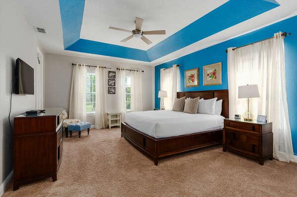 Get a good night's rest in the second floor master bedroom.