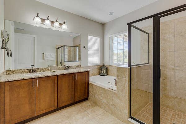 Get ready for the day in this beautiful ensuite
