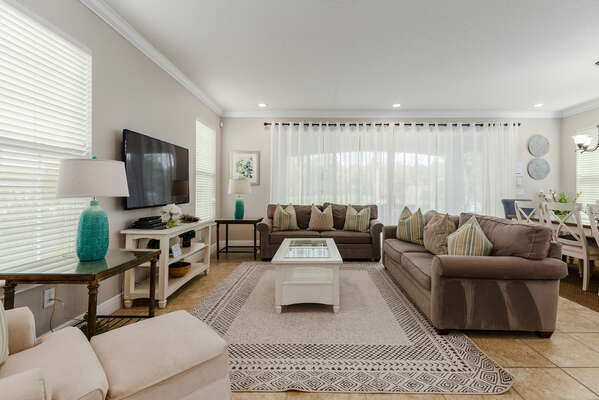 The open living space is great for the whole family to be together.