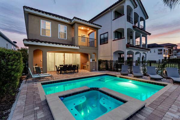 Illuminate the pool deck for a night swim