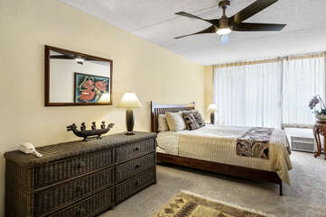 Large bedroom with a King bed