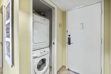 In -unit washer/dryer located at units entry
